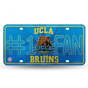 UCLA Bruins #1 Fan Glitter License Plate