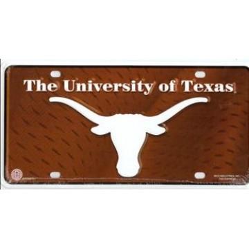 Texas Longhorns Brown License Plate