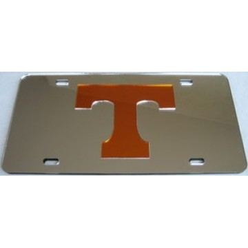 Tennessee Vols Logo on Silver Laser Plate