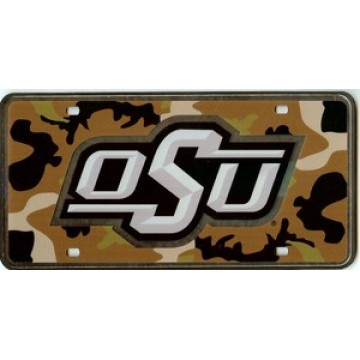 Oklahoma State Cowboys Camouflage laser license Plate