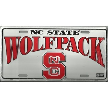 NC State Wolfpack Metal License Plate