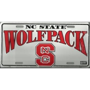 NC State Wolfpack Metal License Plate