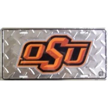 Oklahoma State Cowboys Diamond License Plate