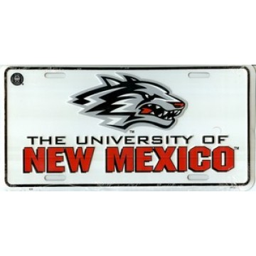 University Of New Mexico License Plate