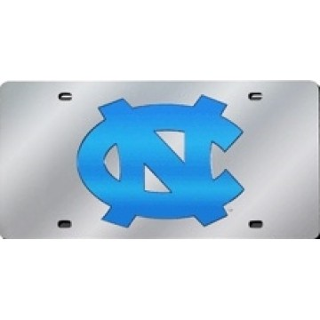North Carolina Tar Heels Silver Laser License Plate
