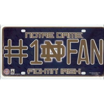 Notre Dame #1 Fan License Plate