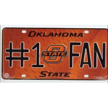 Oklahoma State Cowboys #1 Fan License Plate