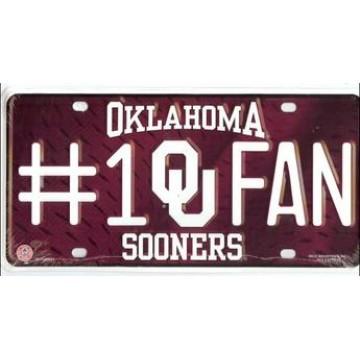 Oklahoma Sooners #1 Fan License Plate