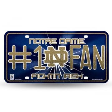 Notre Dame #1 Fan Glitter License Plate