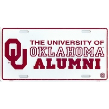 Oklahoma Sooners Alumni License Plate