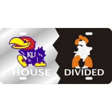 Kansas Jayhawks / OSU Cowboys House Divided Laser