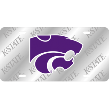 Kansas State Wildcats K-State Laser License Plate