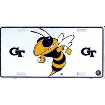 Georgia Tech White License Plate