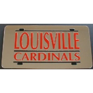 Louisville Cardinals Laser Team Plate