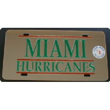 University of Miami Hurricanes Laser Team Plate