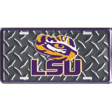 LSU Tigers Diamond License Plate