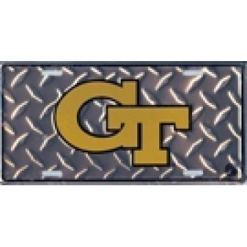 Georgia Tech Yellow Jackets Diamond License Plate