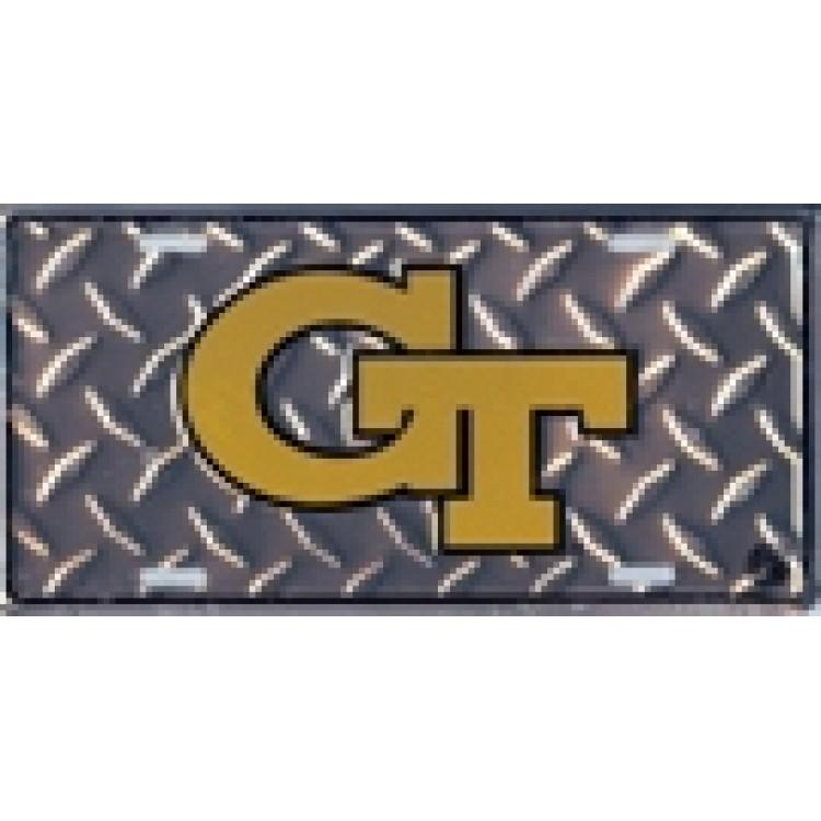 Georgia Tech Yellow Jackets Diamond License Plate