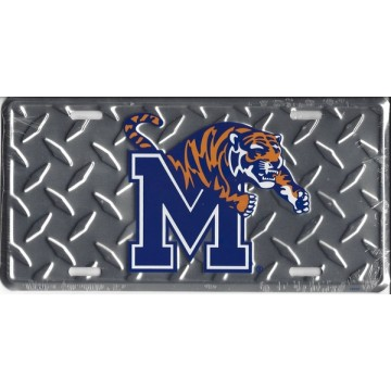Memphis State Tigers (Diamond) License Plate