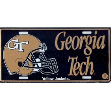Georgia Tech with Helmet License Plate