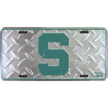 Michigan State Spartans Diamond License Plate