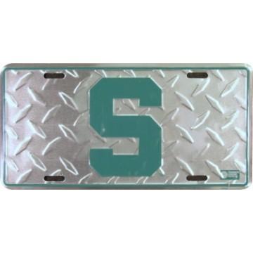 Michigan State Spartans Diamond License Plate