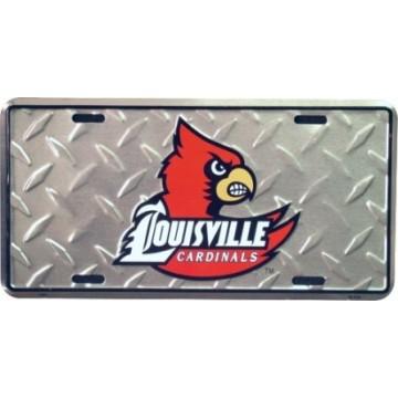 Louisville Cardinals Diamond License Plate