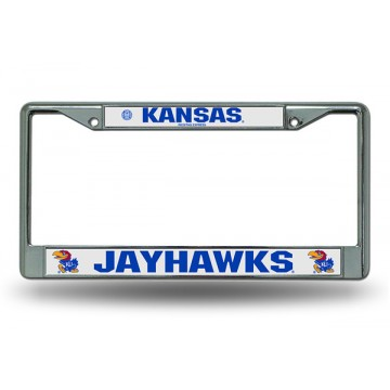 Kansas Jayhawks Chrome License Plate Frame