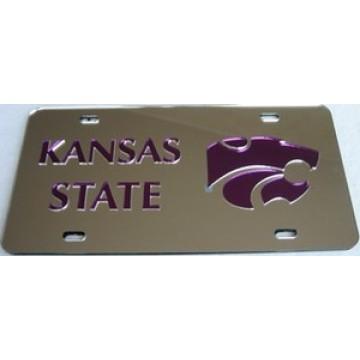 Kansas State Silver Laser License Plate