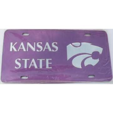 Kansas State Purple Silver Laser Cut License Plate