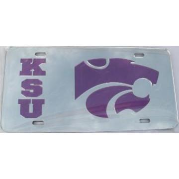 Kansas State Silver Purple Laser Cut License Plate