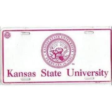 Kansas State University Metal License Plate