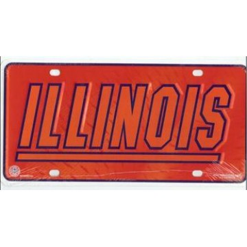 University of Illinois Illini License Plate