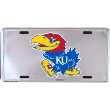 Kansas Jayhawks Anodized License Plate
