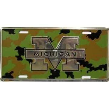 Michigan Wolverines Camo License Plate