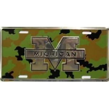 Michigan Wolverines Camo License Plate