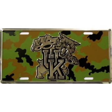 Kentucky Wildcats Camouflage License Plate