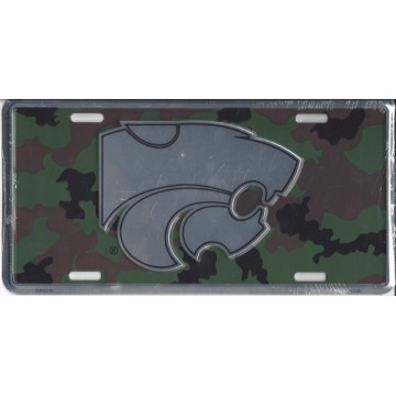 Kansas State Wildcats Camouflage License Plate