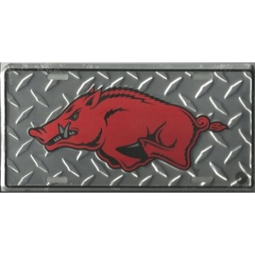 Arkansas Razorbacks Diamond License Plate