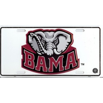 Alabama BAMA Elephant License Plate