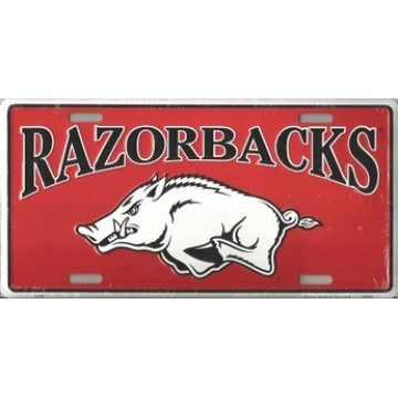 Arkansas Razorbacks College License Plate