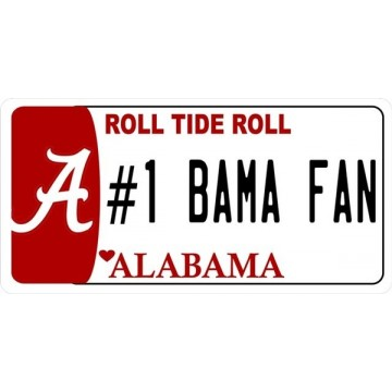 Alabama #1 Fan Photo License Plate