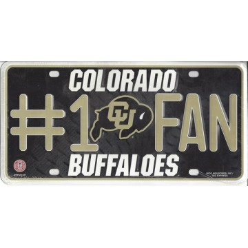 Colorado Buffaloes #1 Fan License Plate
