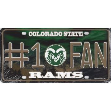 Colorado State Rams #1 Fan License Plate