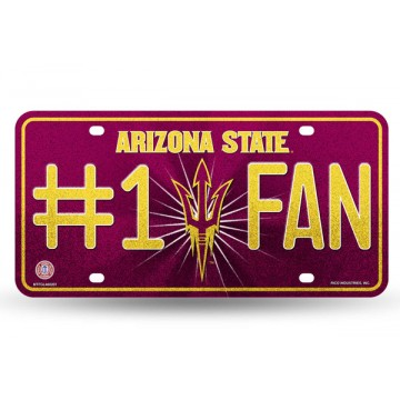 Arizona State Sun Devils #1 Fan Glitter License Plate