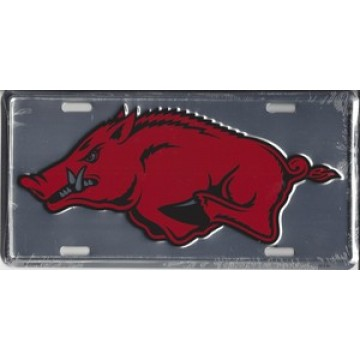 Arkansas Razorbacks Anodized License Plate