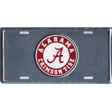 Alabama Crimson Tide Anodized License Plate