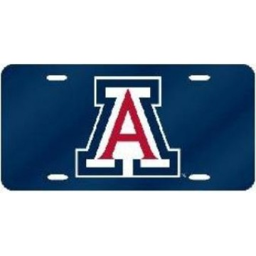 "Arizona Wildcats ""A"" Blue Laser License Plate"