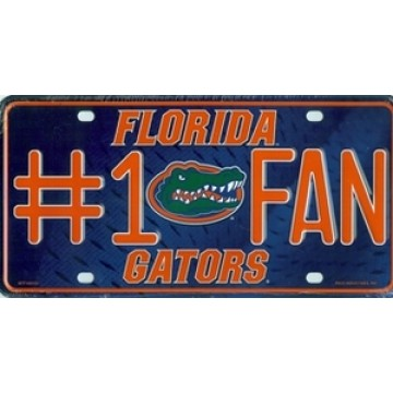 Florida Gators #1 Fan License Plate
