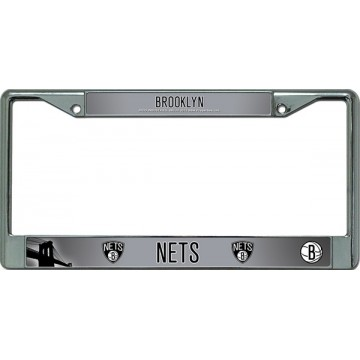 Brooklyn Nets Chrome License Plate Frame